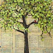 Cardinals In A Tree Art Print by Blenda Studio