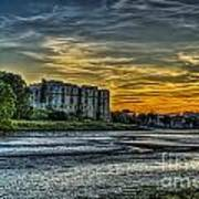 Carew Castle Sunset 3 Art Print