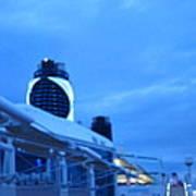 Caribbean Cruise - On Board Ship - 1212100 Art Print
