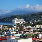 Caribbean Cruise - On Board Ship - 1212147 Art Print