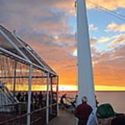 Caribbean Cruise - On Board Ship - 1212165 Art Print