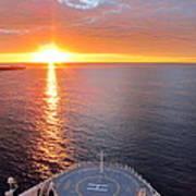 Caribbean Cruise - On Board Ship - 1212185 Art Print