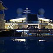Caribbean Cruise - On Board Ship - 121235 Art Print