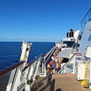 Caribbean Cruise - On Board Ship - 121262 Art Print