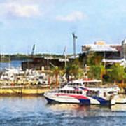 Caribbean - Dock At King's Wharf Bermuda Art Print