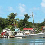 Caribbean - Docked Boats At Antigua Art Print