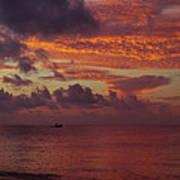 Caribbean Early Sunrise Art Print
