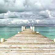 Caribbean Landscape - Isolated Jetty - Bahamas Art Print