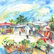 Caribbean Market Art Print