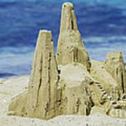 Caribbean Sand Castle  Art Print by Betty LaRue