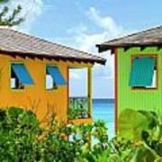 Caribbean Village Art Print by Randall Weidner