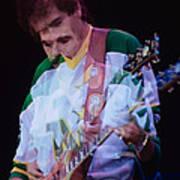Carlos Santana At The Berkeley Greek Theater-september 13th 1980 Art Print