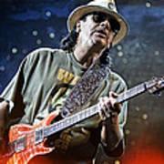 Carlos Santana On Guitar 2 Art Print