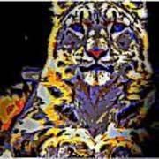 Carlos The Snow Leopard Art Print