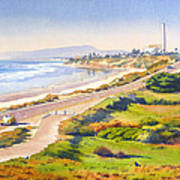 Carlsbad Rt 101 Art Print by Mary Helmreich