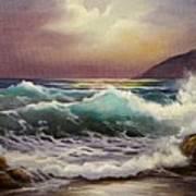 Carmel Sea Sunset Sold Art Print