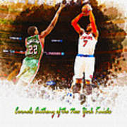 Carmelo Anthony Of The New York Knicks Art Print
