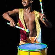 Carnival Drummer Art Print