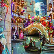 Carnival Moon Variant 1 Art Print
