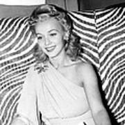 Carole Landis, At El Morocco, Ca. Early Art Print