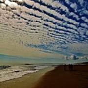 Carolina Blue Sky And Pier 10 10/17 Art Print
