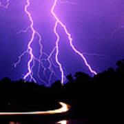 Carolina Electrical Storm Art Print