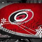Carolina Hurricanes Christmas Art Print