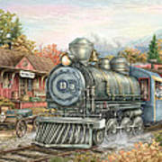 Carolina Morning Train Art Print