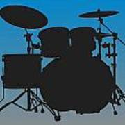 Carolina Panthers Drum Set Art Print