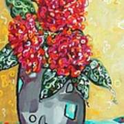 Carolyn's Roses Art Print