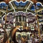 Carousel At Hotel Deville Art Print