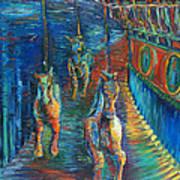 Carousel At Night Art Print