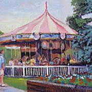 Carousel At Put-in-bay Art Print