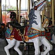 Carousel At Santa Cruz Beach Boardwalk California 5d23634 Art Print by Wingsdomain Art and Photography