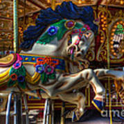 Carousel Beauty Ready To Roll Art Print