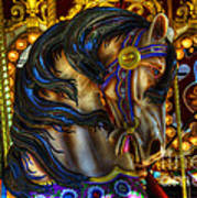 Carousel Beauty Waiting For A Rider Art Print