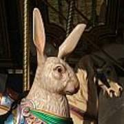Carousel Hare Art Print