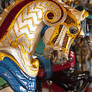 Colorful Carousel Merry-go-round Horse Art Print