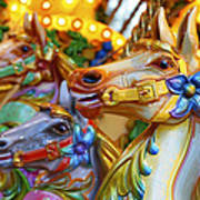 Carousel Horses Art Print