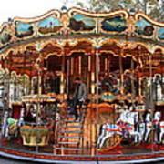 Carousel In Avignon Art Print