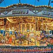 Carousel In Bournemouth Art Print