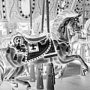 Carousel In Negative 3 Art Print