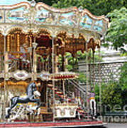 Carousel In Paris Art Print