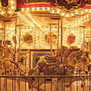 Carousel Night Lights Art Print