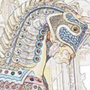 Carousel Stallion Art Print