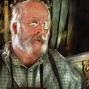 Carpentry - The Carpenter And His Workshop Art Print