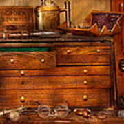 Carpentry - Tools - In My Younger Days  Art Print by Mike Savad