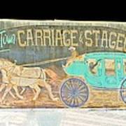 Carriage And Stagecoach Color Invert Art Print