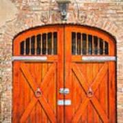 Carriage House Doors Art Print