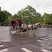 Carriage Ride In Central Park Art Print